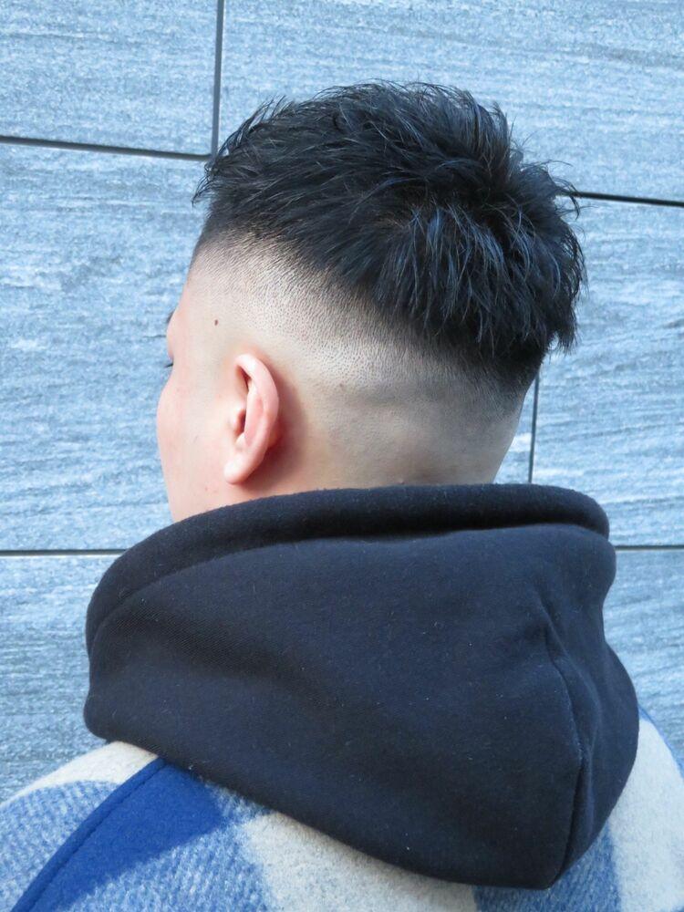前髪長めのジェットモヒカン