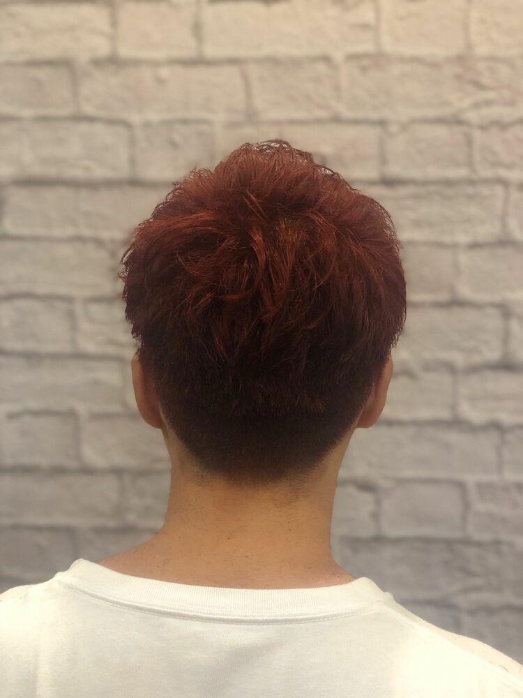 赤髪 爽やか 夏ショート