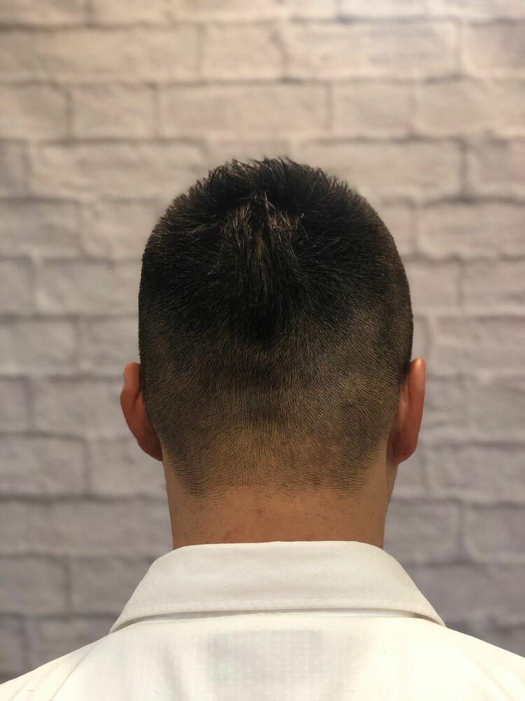 短髪 刈り上げショート 黒髪 ソフトモヒカン