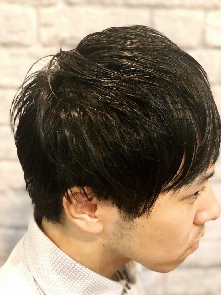 黒髪 マッシュ