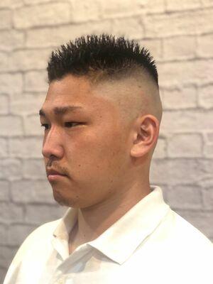 barber スタイル ハイカリ スキンフェード