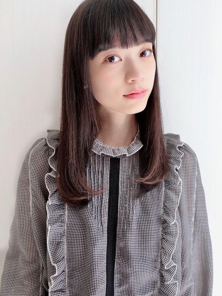 神田安優奈 王道ナチュラルストレートヘア