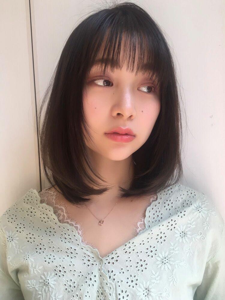 神田安優奈 小顔レイヤーのワンカールスタイル