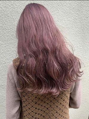ピンクカラー×ロング