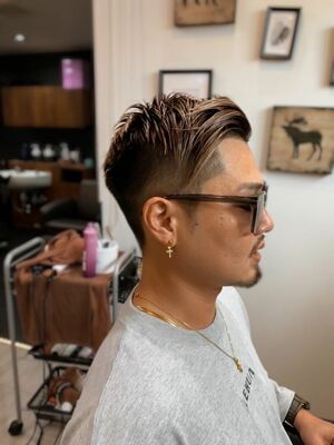 外国人風な髪型