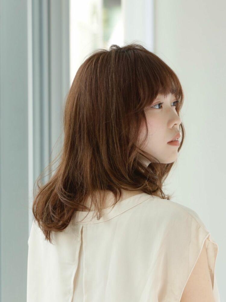 たぷんとした裾の重さが可愛い♡ナチュウルフなミディアムヘア♡