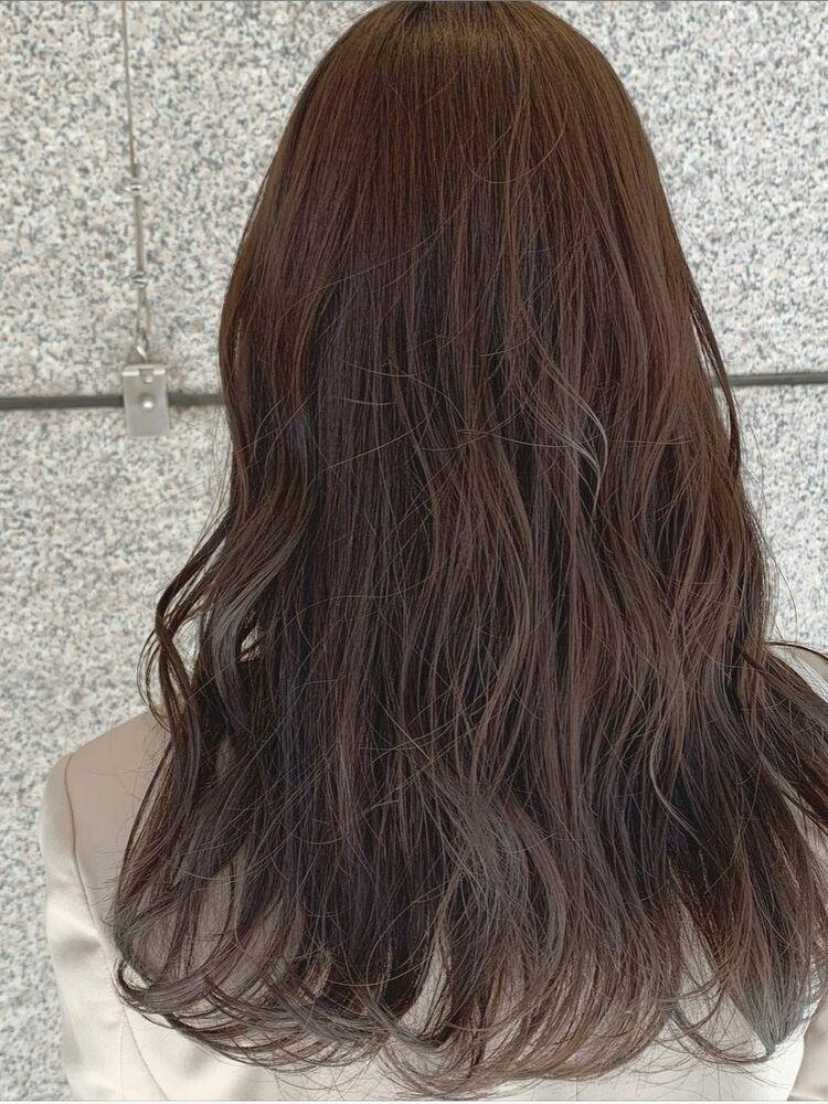 韓国風♡オルチャンロング×柔らかくすみベージュカラー