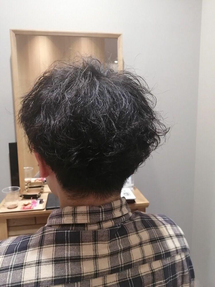 ツイストツーブロックヘア