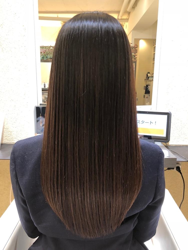 表参道レングス。艶髪スタイル