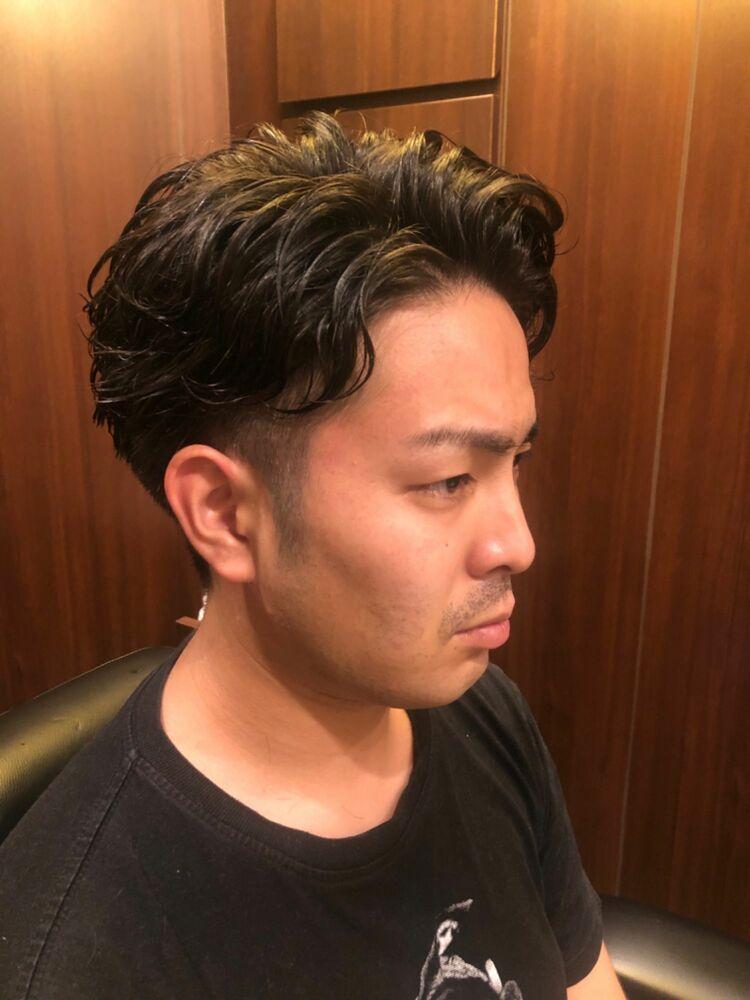 濡れ髪ツーブロパーマ