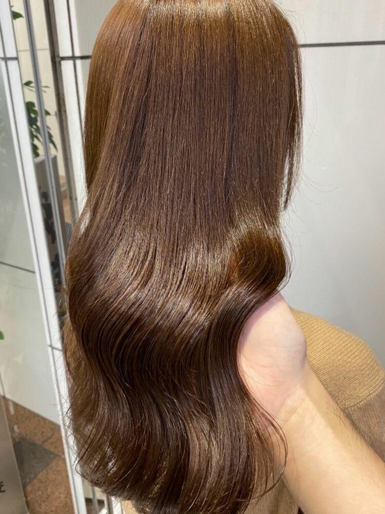 20代30代40代50代小顔×ハイライトカラー×チョコレートブラウン×ツヤ髪×艶巻き