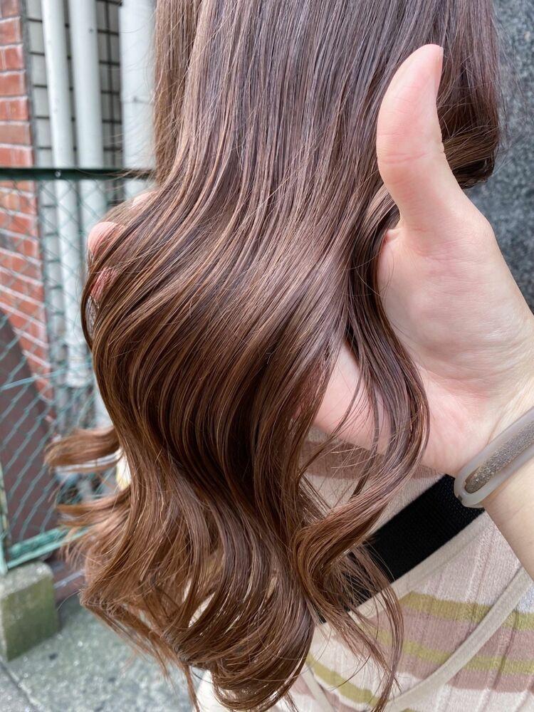 20代30代40代50代小顔×ハイライトカラー×ココアブラウン×ツヤ髪×艶巻き