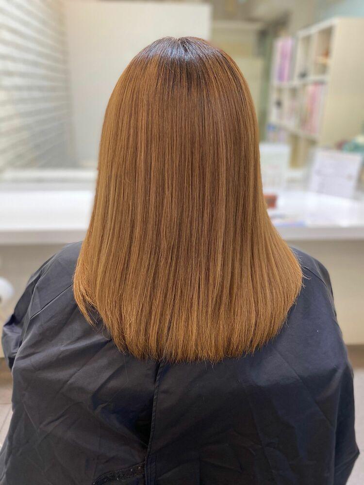 髪質改善トリートメント×ブリーチ毛