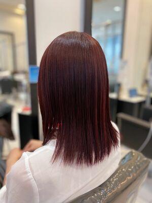 髪質改善カラー×ローズピンクカラー♪
