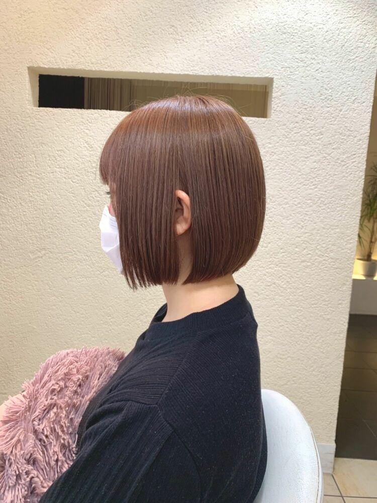 ✔︎Euphoria新宿店/宮田真白✔︎ミルクティーピンク🍑