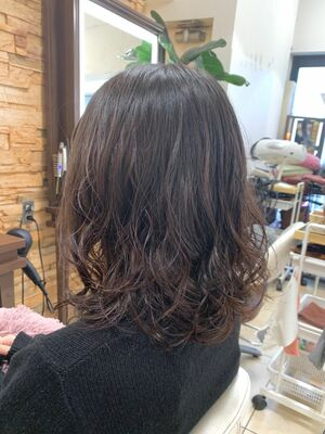 ✔︎Euphoria新宿店/宮田真白✔︎大人可愛い黒髪パーマ☆コテアイロンは一切使ってません。