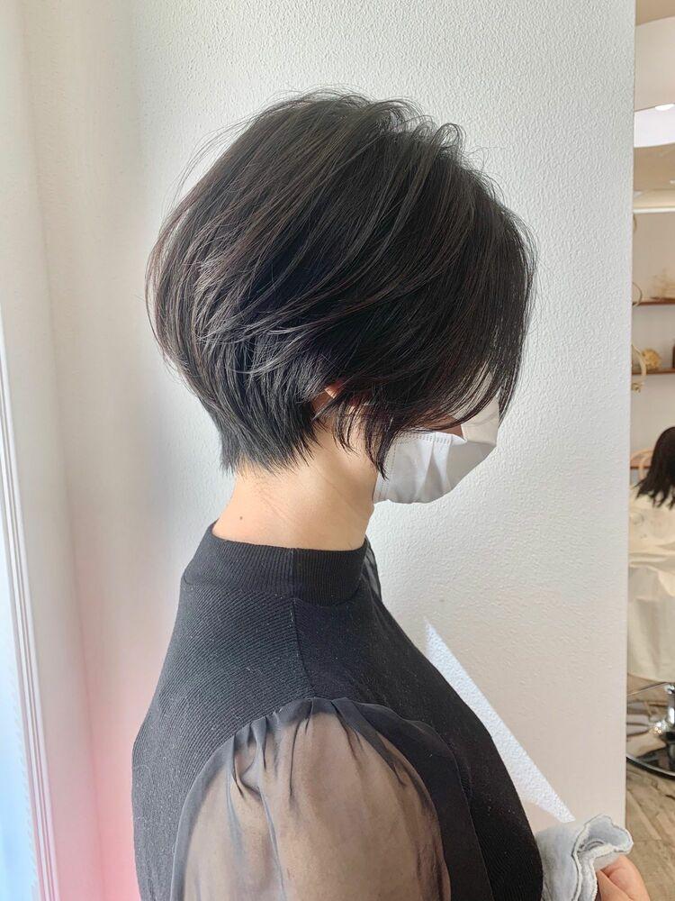 ショート 前髪 ハンサム