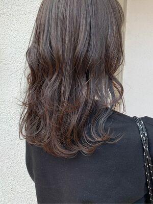 艶々暗髪カラー♪
