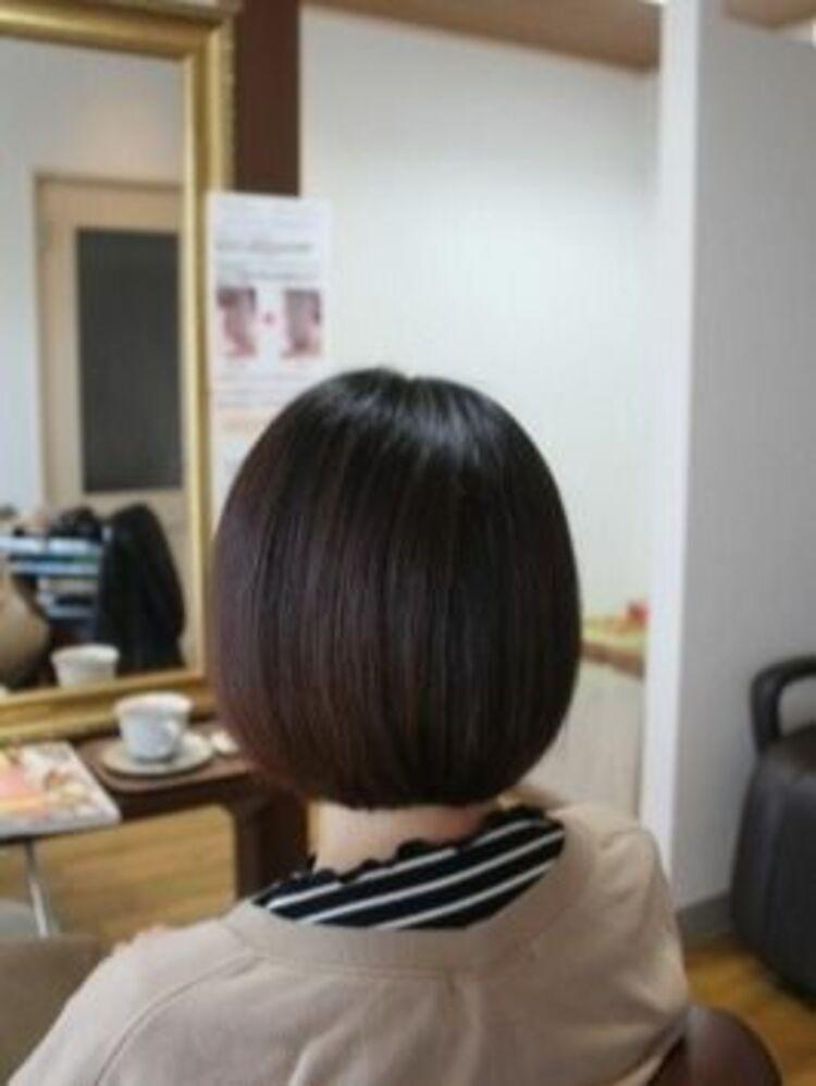 ココナッツ矯正で自然な丸みのあるシルエットのヘアスタイルに!