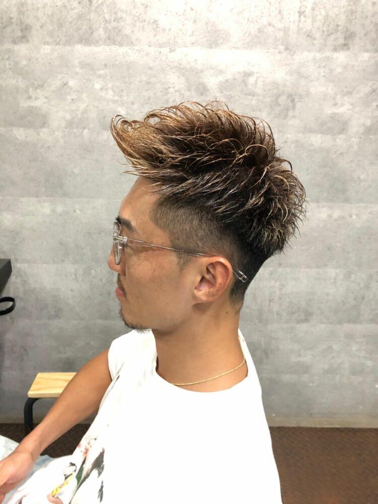 メッシュ×アップバングパーマstyle☆
