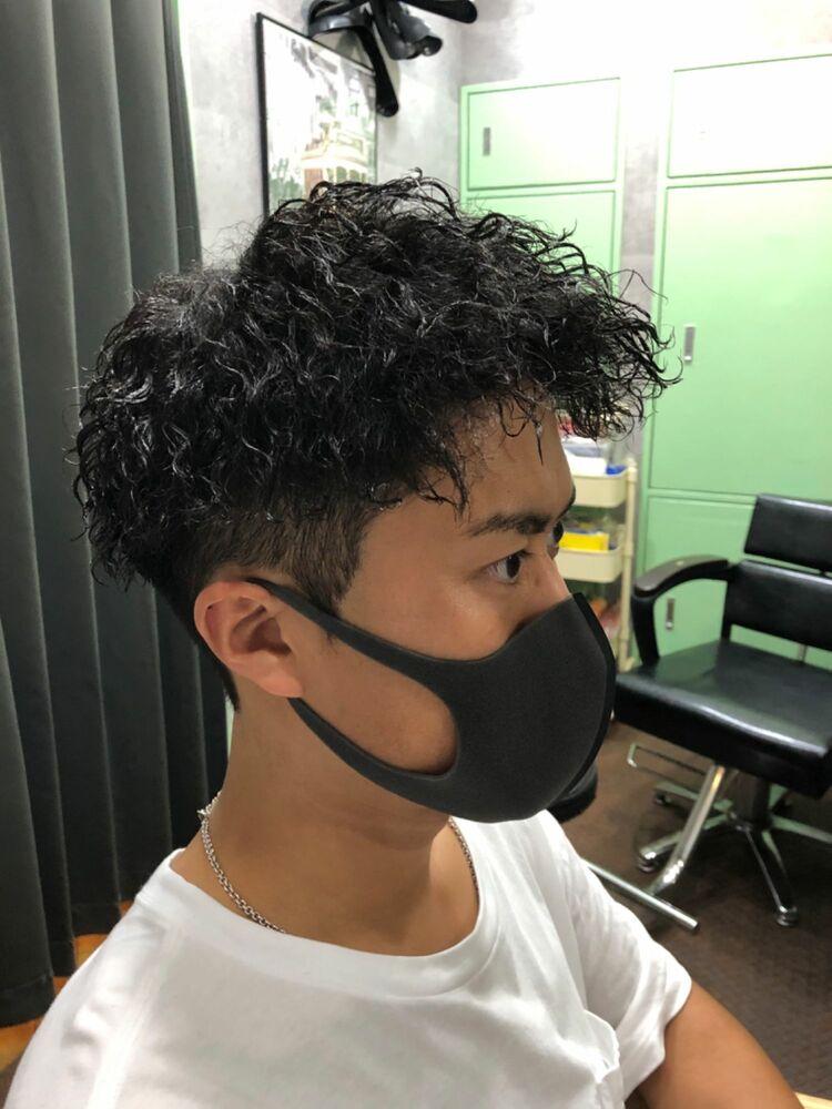 ウェーブツイスト×ツーブロックstyle☆