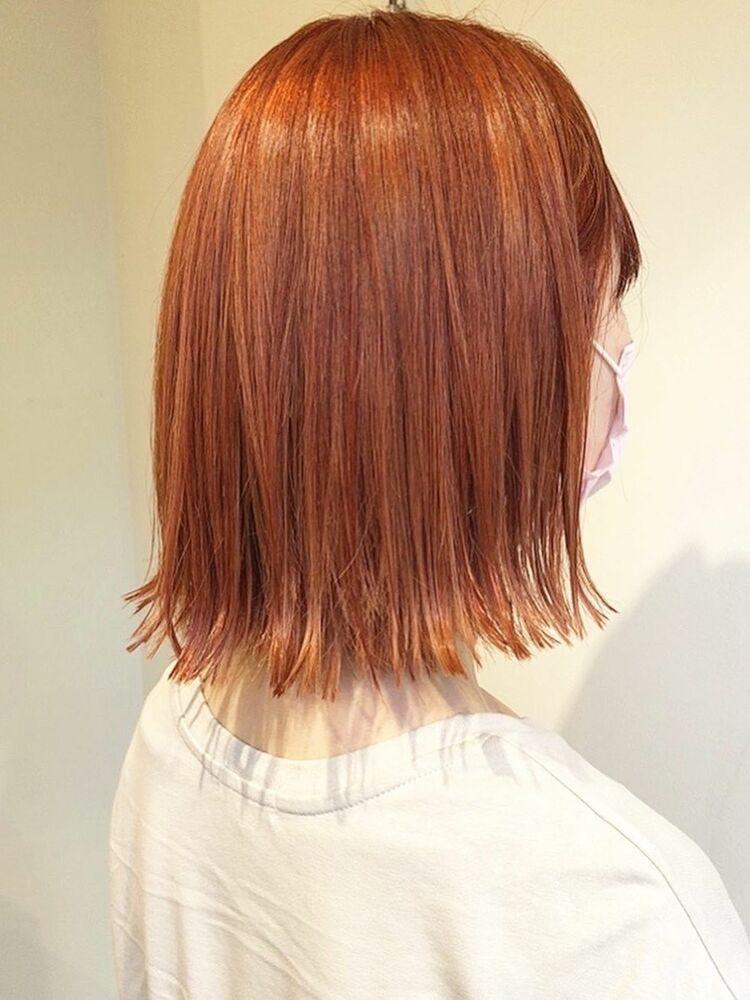 オレンジヘアで秋を先取り
