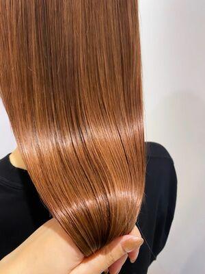 髪質改善カラー!オレンジベージュ!
