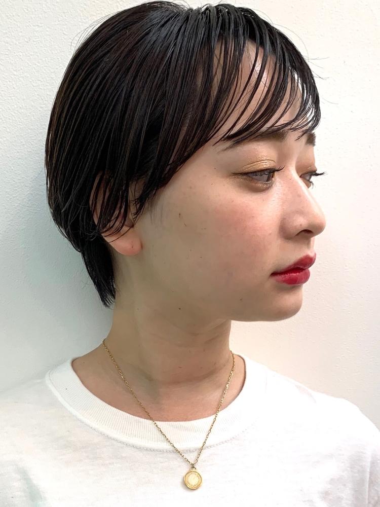 DaB omotesandoシースルーバング × 丸みショート