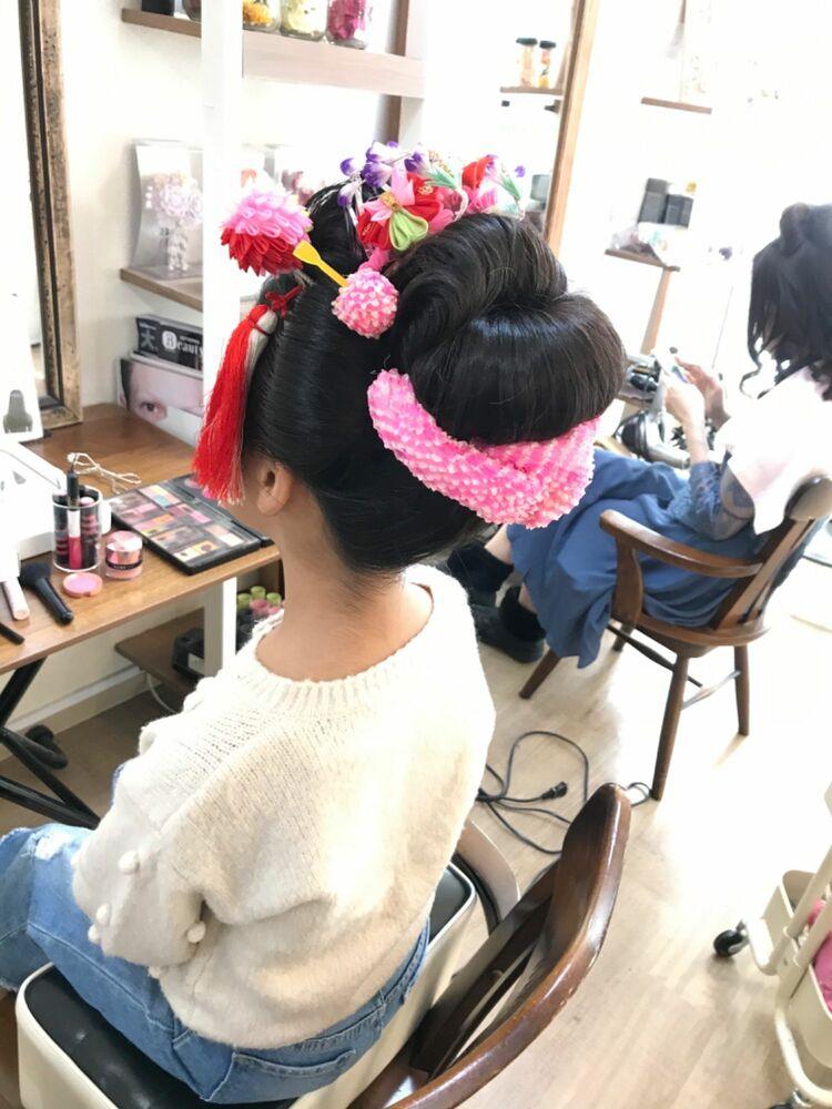 新日本髪  七五三