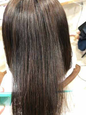 髪質改善で縮毛矯正トリートメントも