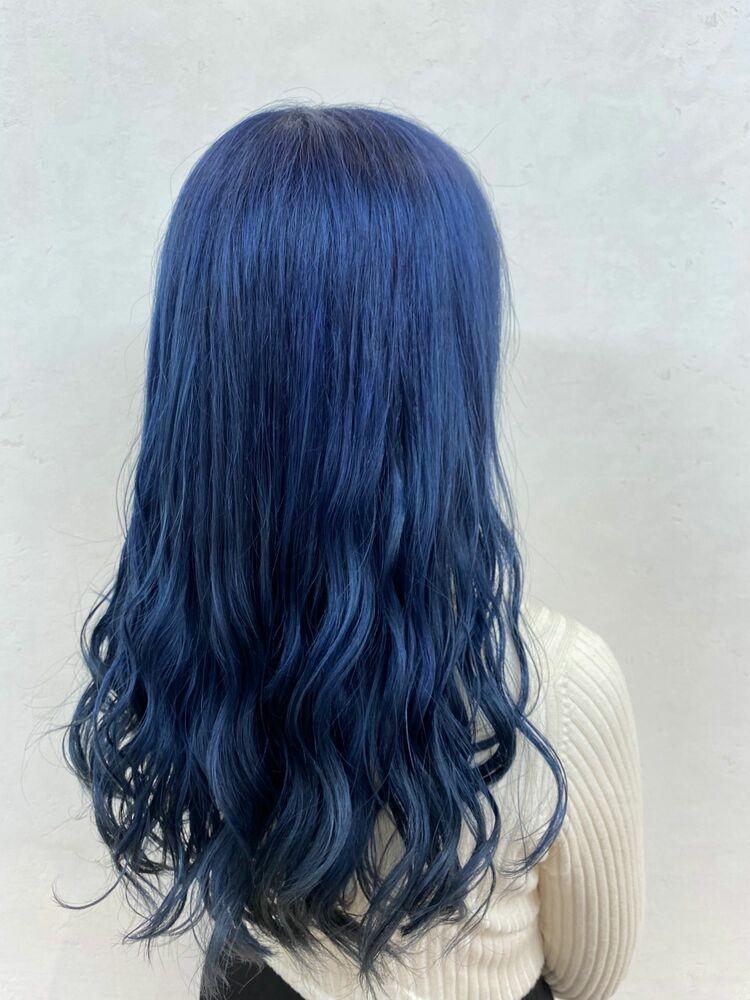 ブルー濃いめのダブルカラー!