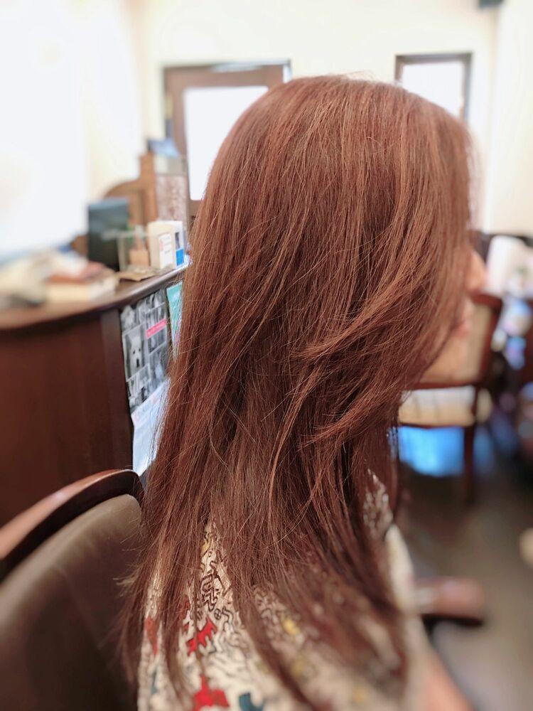毛流れの自然なこなれヘア