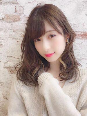 インナーカラーでオシャレ度アップ❣️ゆるふわモテ髪パーマ❣️錦糸町