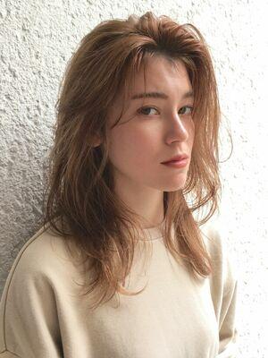 かきあげ前髪×ラウンドレイヤーk.e.y原宿表参道instagram:mao_k.e.y0807_