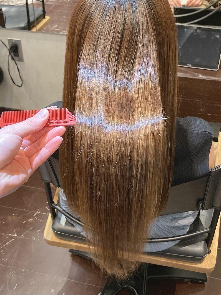 美髪矯正でまとまるヘアーを!