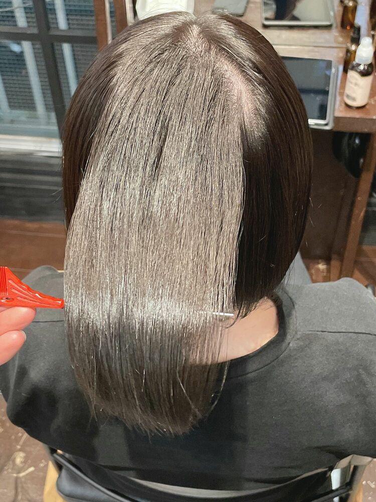 髪質改善ストレートで綺麗なヘアーを!