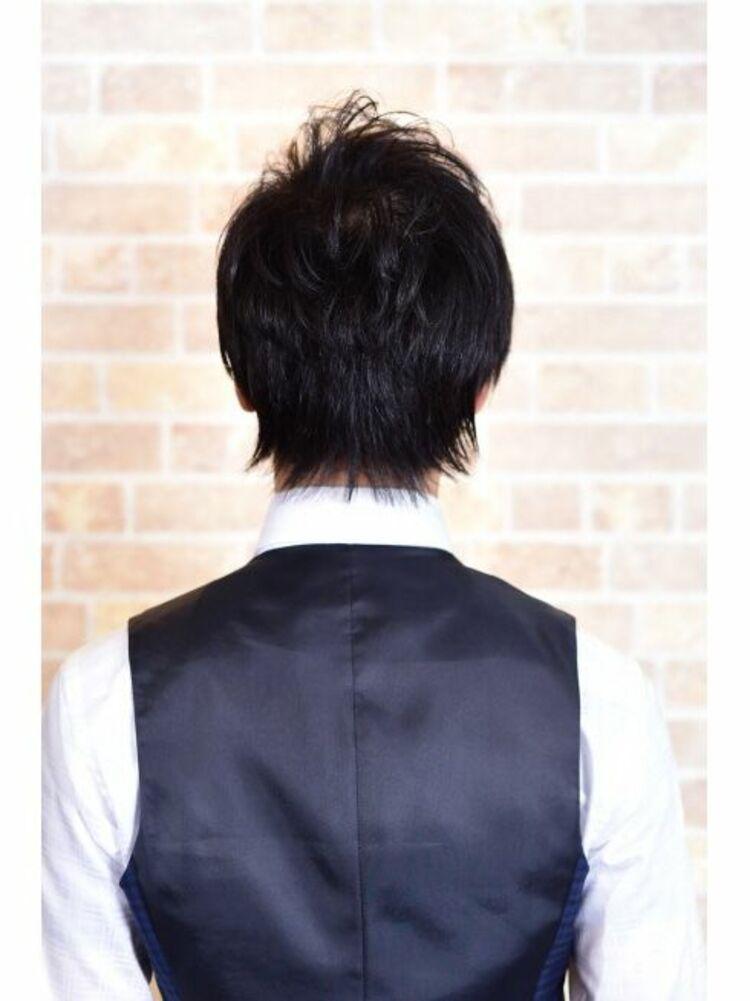 Richer hairsalon リシェル渋谷-高野章  スーツにも合うナチュラルツーブロック