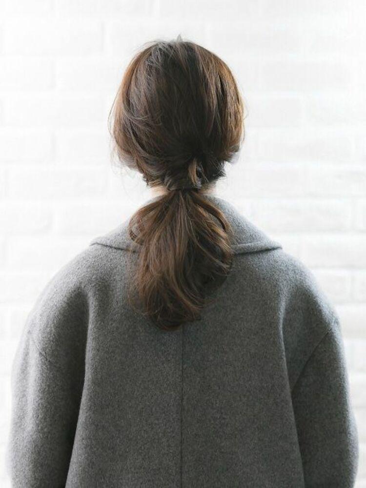Richer hairsalon リシェル渋谷-高野章  大人ポニーテール