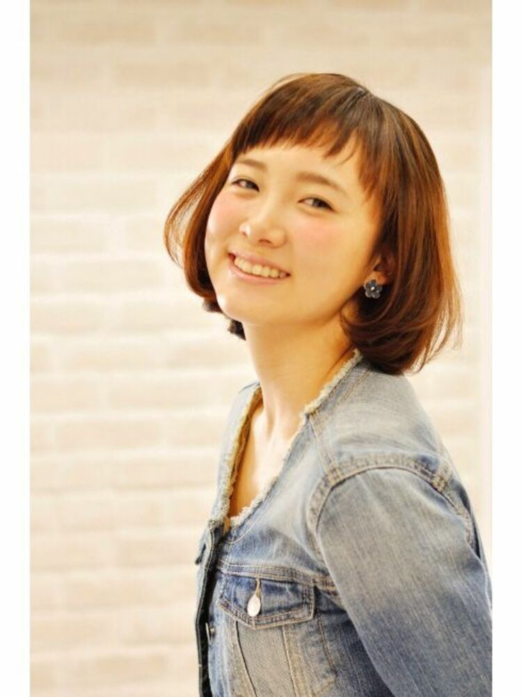 Richer hairsalon リシェル渋谷-高野章  眉上バング♪ショートボブ