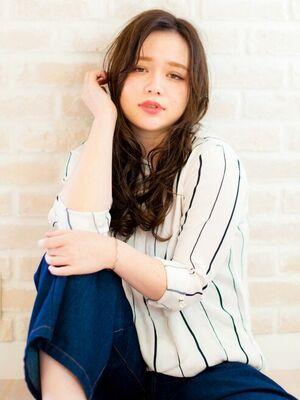 Richer hairsalon リシェル渋谷-高野章  ウエットラフなホツレウェーブ