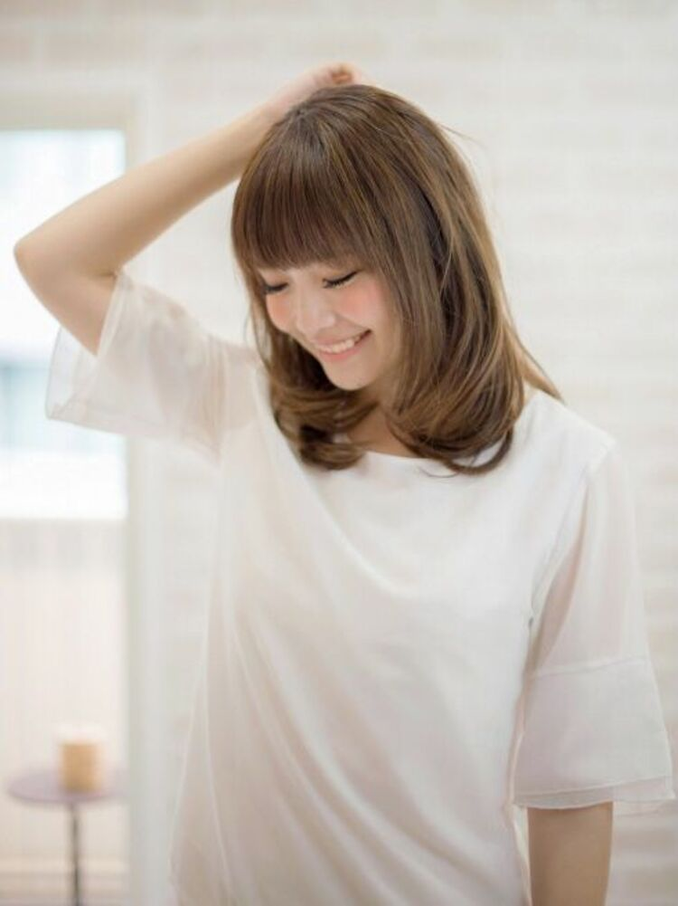 Richer hairsalon リシェル渋谷-高野章  ワンカール+前髪ロブ♪