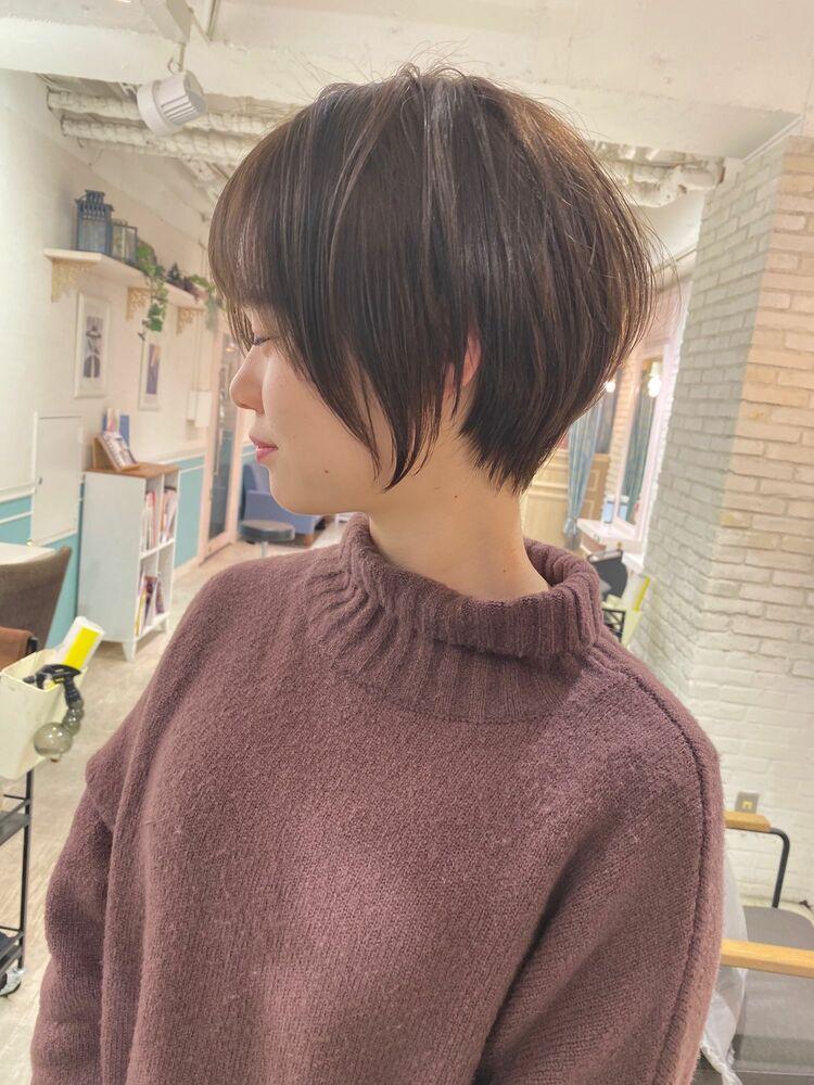 表参道Lond 津賀雅也 丸みが綺麗すぎる横顔美人ショートヘアー