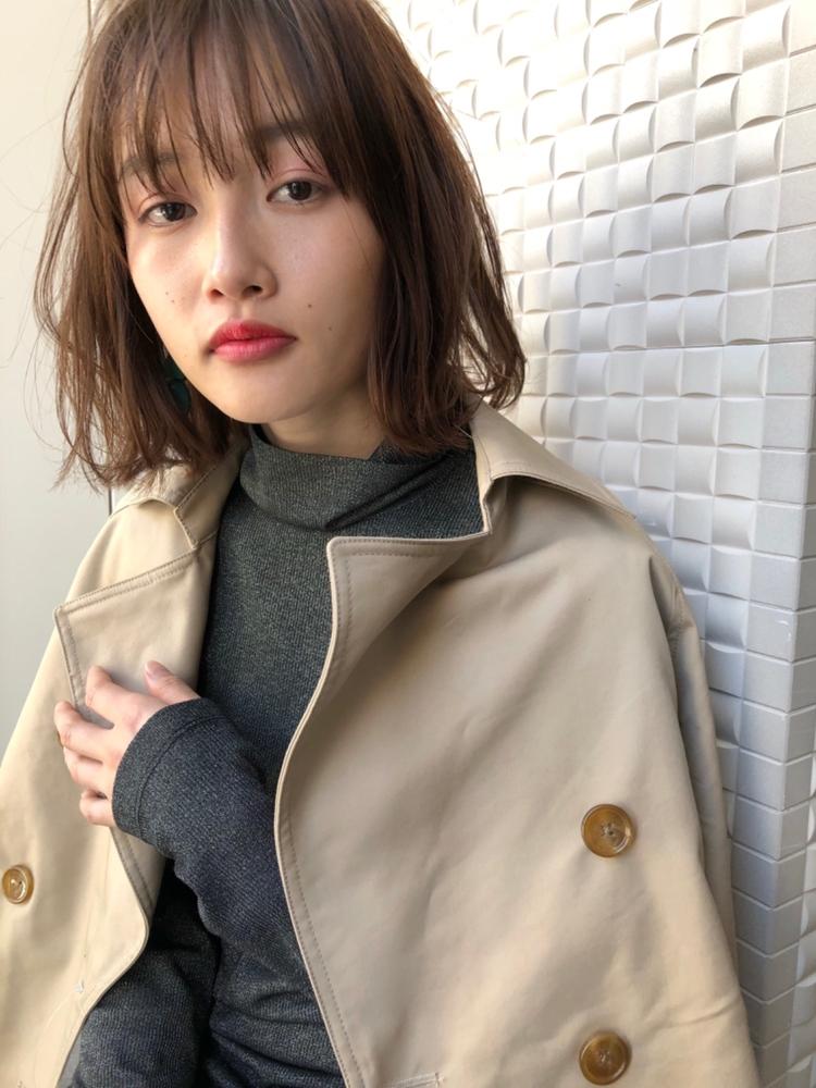 joemi 新宿 乾かすだけで美髪 レイヤーミディアム ネイビーカラー デジタルパーマ 長屋 亨