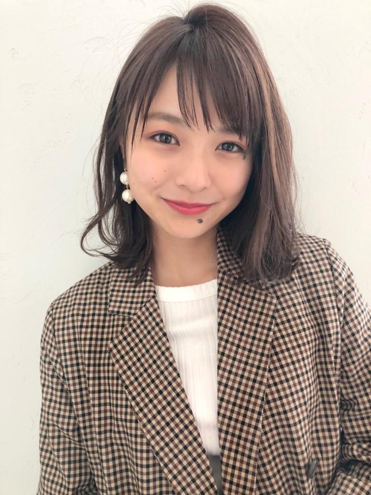 joemi 新宿 乾かすだけで美髪 レイヤーミディアム ネイビーカラー デジタルパーマ 長屋