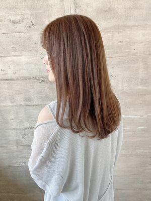 卵型面長の方に似合う大人かわいい美髪セミロング