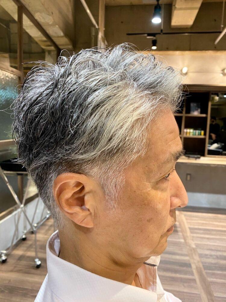30代40代50代ビジネスマン必見『ツーブロックナチュラルパーマ』10秒で決まる髪型