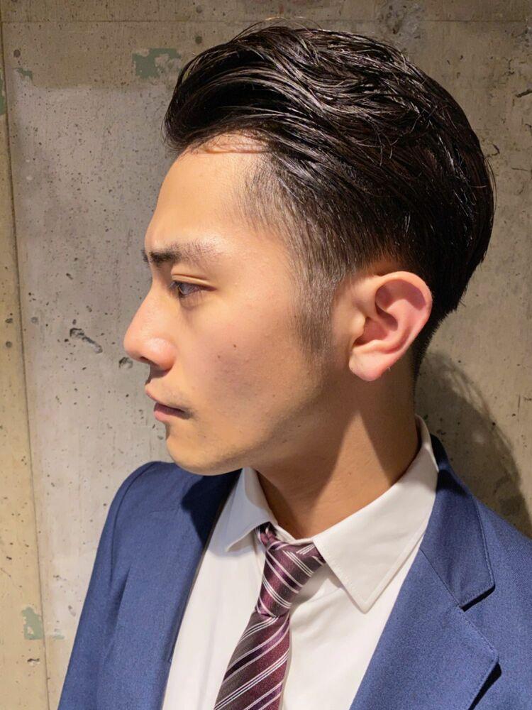 『ビジネスマン必見』大人の七三スタイル