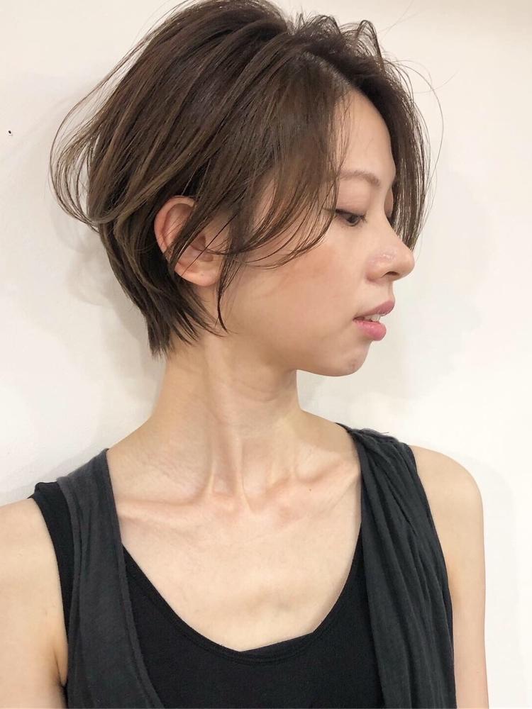 ひし形ショート×ハイライトアッシュ(iki)