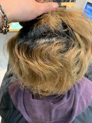 ブリーチ毛可能な縮毛矯正♪
