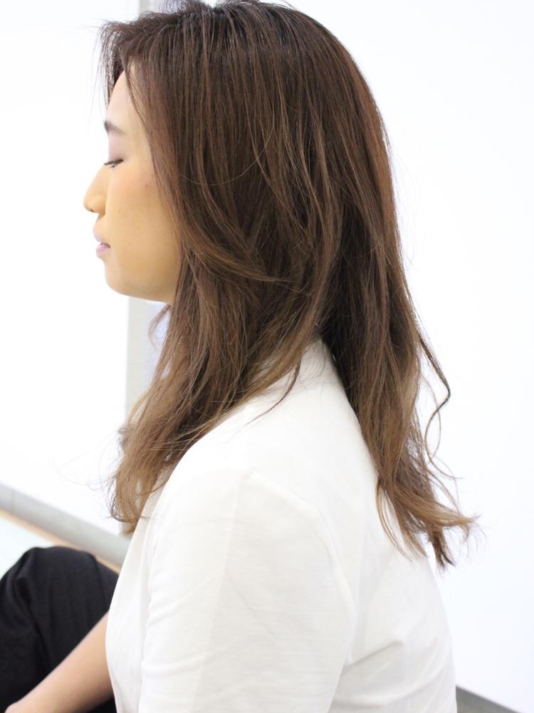 Agnos青山 美髪小顔ネイビーカラーブランジュデジタルパーマ